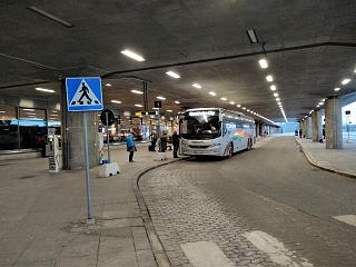 Bus stop at the airport Stockholm Arlanda