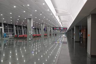 Lounges and boarding gates in Terminal d of Kiev Borispol airport