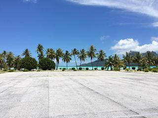 The platform of the airport of Bora Bora