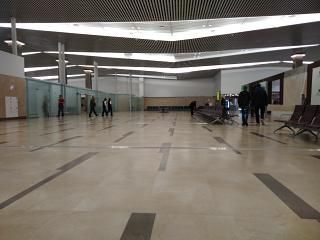 In the clean area of the new terminal of airport Krasnoyarsk Emelyanovo