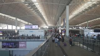 International airport terminal Hong Kong