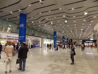 Arrival hall, new terminal of Pulkovo airport in St. Petersburg