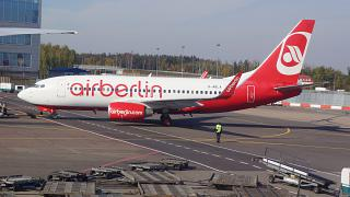 Boeing 737-700 Air Berlin at the airport in Moscow Domodedovo