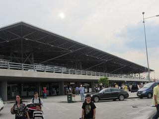 The terminal of the airport of Thessaloniki