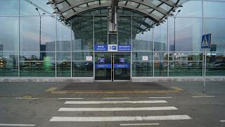 The entrance to the terminal D of Sheremetyevo airport