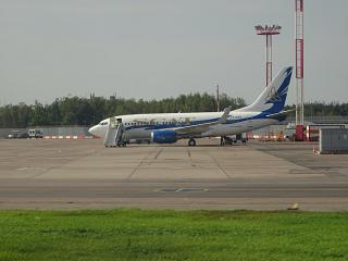 Boeing-737-700, LY-AZV SCAT airlines at Domodedovo airport