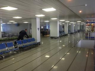 Hall waiting on the second floor of the airport of Blagoveshchensk airport Ignatievo