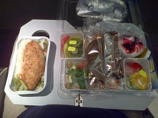 Food on the flight Novosibirsk-Vladivostok airlines, Vladavia