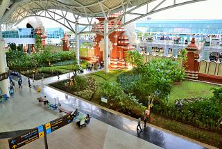 View of the arrival hall of Denpasar airport Ngurah Rai