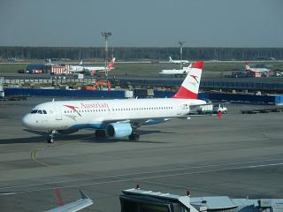 Airbus A320 Austrian airlines in airport Moscow Domodedovo