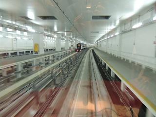 The train between terminals, Dubai airport