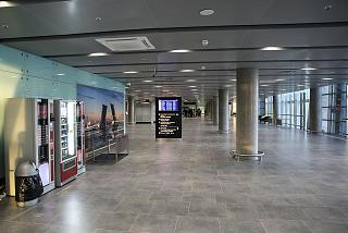 In the arrivals area in the new terminal of airport Saint Petersburg Pulkovo