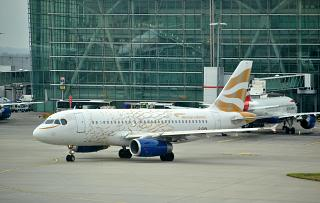 "Airbus A319 G-EUPA British Airways in a special livery of ""London 2012 Olympics - Dove"""