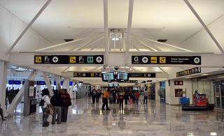 The F section in the registration area in the terminal T1 of the airport of Mexico city Benito Juarez