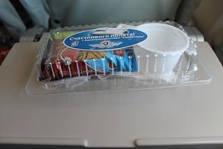 "Flight meals on the flight Moscow-Apatity airline ""Severstal"""