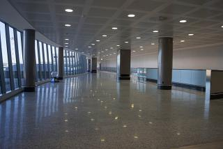 In a clean area of the airport Milan Malpensa