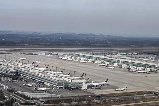 Взлет над Терминалом 2 аэропорта Мюнхен