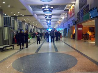 In the passenger terminal of the airport of Omsk