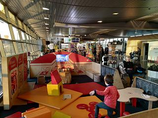 Play area for children in Riga airport