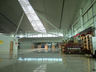 In the passenger terminal at Phu Quoc airport
