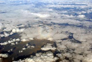 """Gloria"" in the clouds over Eastern Siberia"