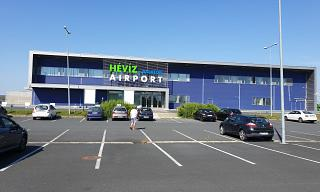 The passenger terminal of Heviz-Balaton airport