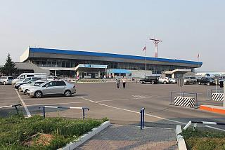 The domestic terminal 1 at the airport Emelyanovo