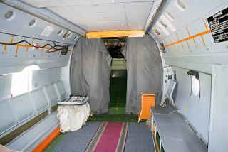 The cargo compartment of the aircraft An-72 Russian air force