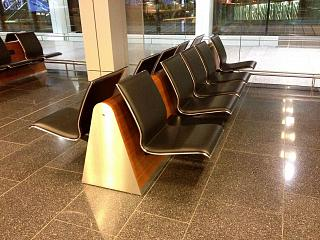The seats in the passenger terminal of Zurich airport