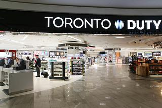 The Duty Free store in terminal 3 of Toronto Pearson international airport