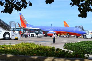 Boeing-737-800 Southwest airlines in the airport of Punta Cana