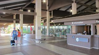 The arrival hall at the airport in Lihue