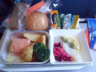 Meals on the Aeroflot flight from Vladivostok to Moscow