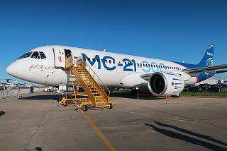 Первый построенный самолет МС-21-300 на авиасалоне МАКС-2019