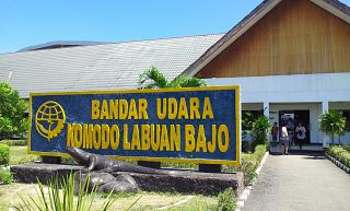 The entrance to the airport of Komodo airport Labuan Bajo