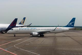 Embraer 195 of Montenegro Airlines at Domodedovo airport