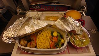 Food on flight Singapore-Bangkok with Thai Airways