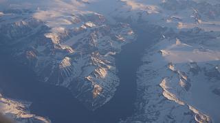В полете над Гренландией
