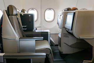 Business Class Passenger Seat on Airbus A321LR of TAP Portugal