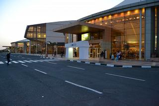 The entrance to the terminal 1 of the airport of Sharm-El-Sheikh