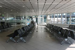 Waiting room before boarding at the airport of Leipzig-Halle