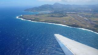 Look at Lihue airport during takeoff