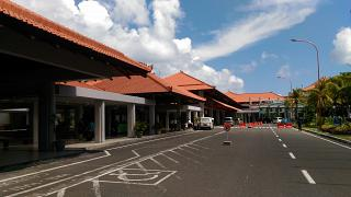 The domestic terminal at the airport Denpasar Ngurah Rai international