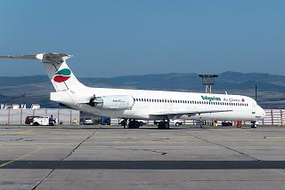 Airliner MD-80 of Bulgarian Air Charter