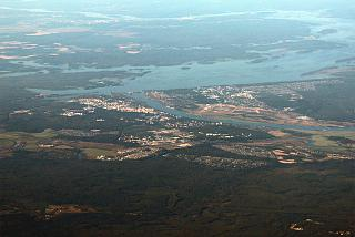 A view of the city of Dubna and Volga river