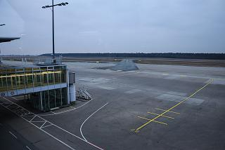 The platform of the airport of Nuremberg