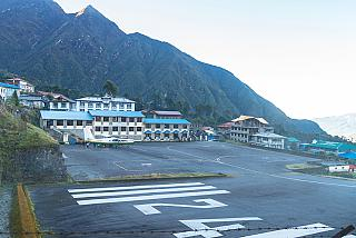 The terminal and the platform of the airport Lukla