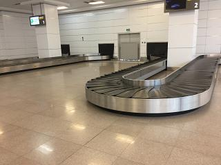 Hall baggage claim in terminal 2 of Ashgabat airport