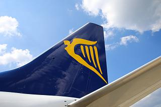The keel of the aircraft of the airline Ryanair