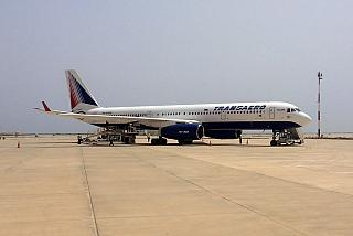 The Tu-214 RA-64518 Transaero at the airport Enfidha-Hammamet